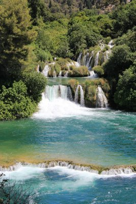 One of the seven falls at Krka Park