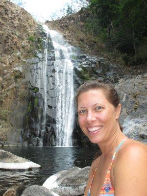 Jen at the last waterfall