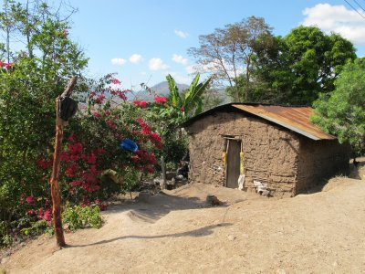 Adobe housing in the Mayan villages