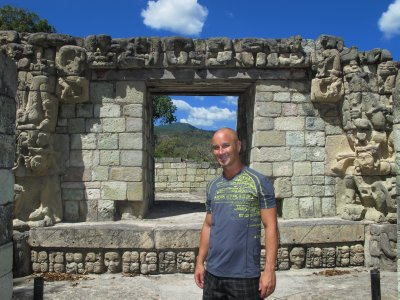 Andrew at the Copán ruins