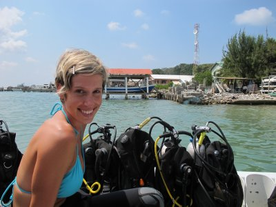 Heading out for the first dive of my Advanced Open Water course