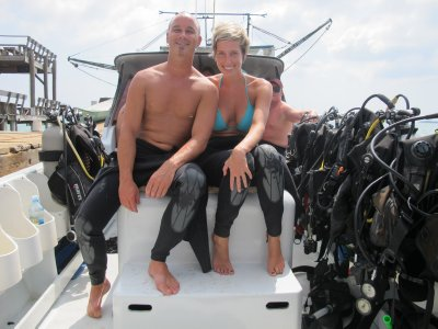 Excited to go diving