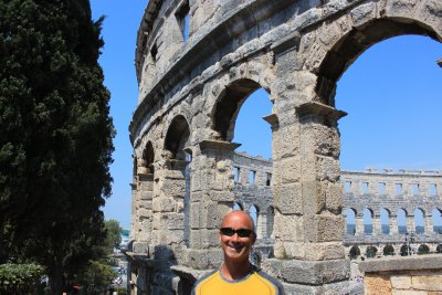 Andrew and the Amphitheater in Pula
