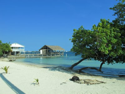 Utila's small beach