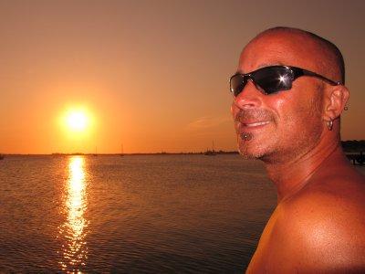 Sunset in Utila