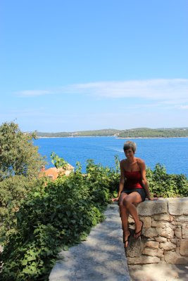 Ana overlooking 13 islands that are located near and around Rovinj