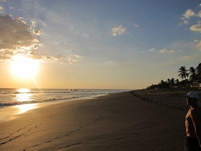 Long stretch of beach at Las Penitas