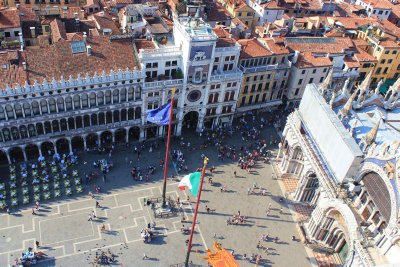 A birds eye view of Piazza San Marco