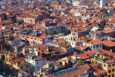 A mosaic of terracotta roofs