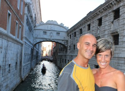 Andrew and Ana in front of the Bridge of Sighs