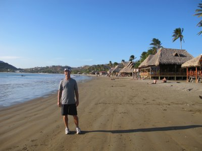 Andrew on the beach in San Juan del Sur