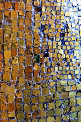Tiny tiles of gold create the mosaics that cover huge expanses of wall and ceiling