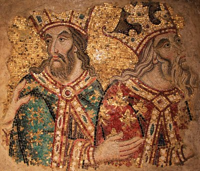 Intricate mosaics adorn the walls of the Basilica of San Marco
