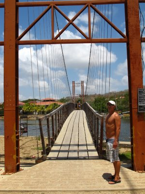 The suspension bridge in San Juan del Sur