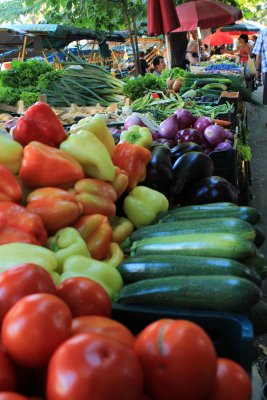 Pula has a large outdoor farmer's market where you can find fresh, local fruits and veggies (honey, oil, spices, etc.)