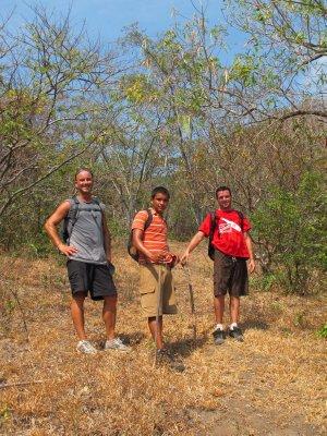 Andrew, Jonathan and Jacob, climbing Volcán Concepción