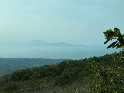 On the distant mainland the Volacano Mombacho is visible