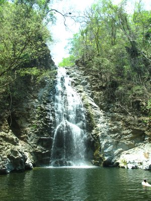 The first set of large falls in Montezuma with a nice swimming hole