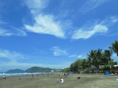Blue skies and long beaches