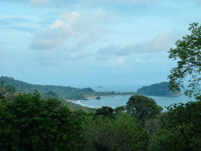 A view from the road above Manuel Antonio National Park
