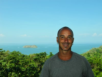 A view from the hills outside Manuel Antonio Park