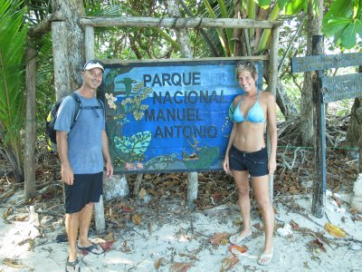 Andrew and Ana in the National Park