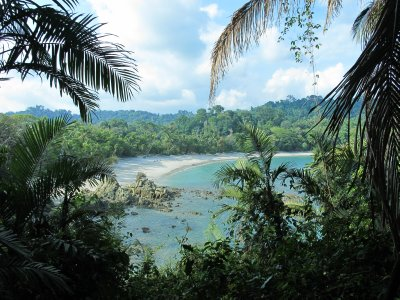 One of the quiet beaches in the Manuel Antonio National park