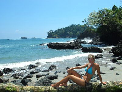 A little beach in the midst of Manuel Antonio National Park