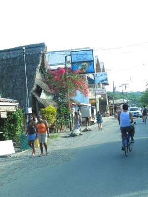 The streets of Puerto Viejo