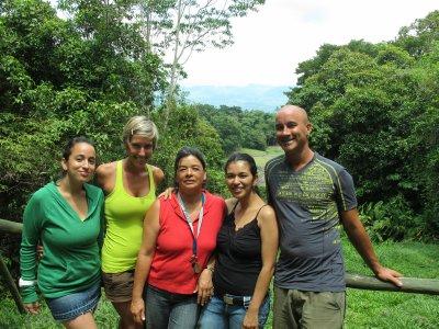 Samantha, Ana, Yamileth, Hellen and Andrew at Guayabo National Park