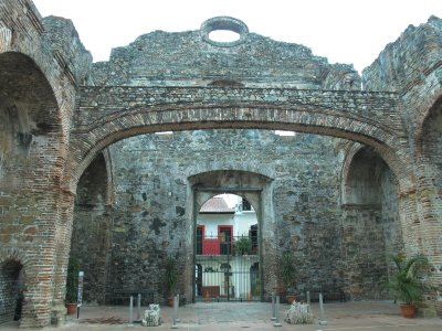 The flat arch built in the Church St. Dominic is unusual for its shape and age.  Legend has it that the Panama Canal was built in Panama instead of Nicaragua because this flat arch proved there was little earthquake activity in the area.