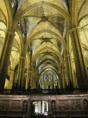 Inside the church in Barcelona's Gothic district