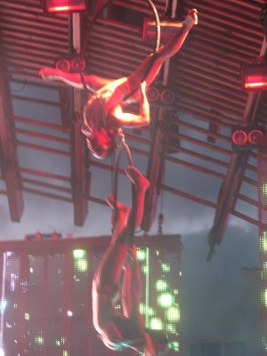 Amazing acrobatics at Ushuaia with the Swedish House Mafia