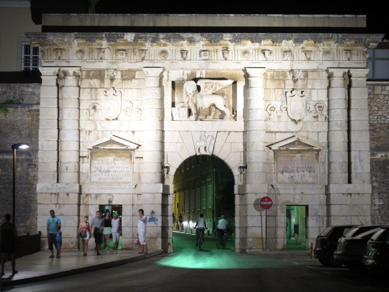 The old gates into Zadar's old town.