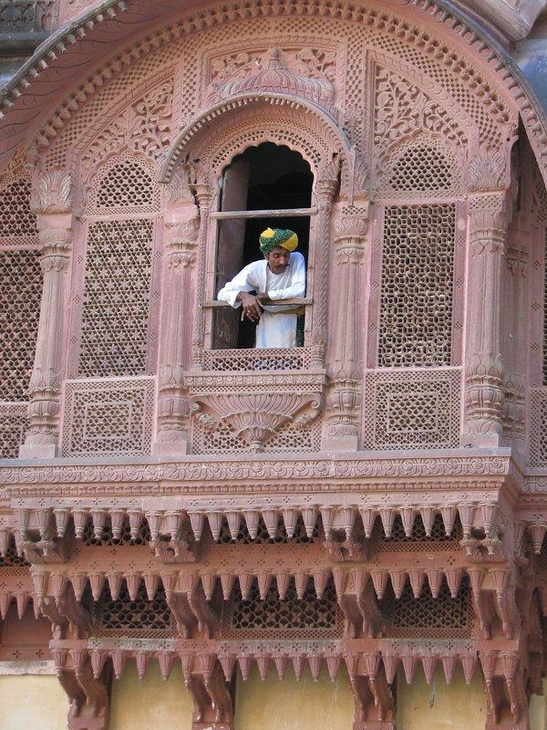 Man in a window