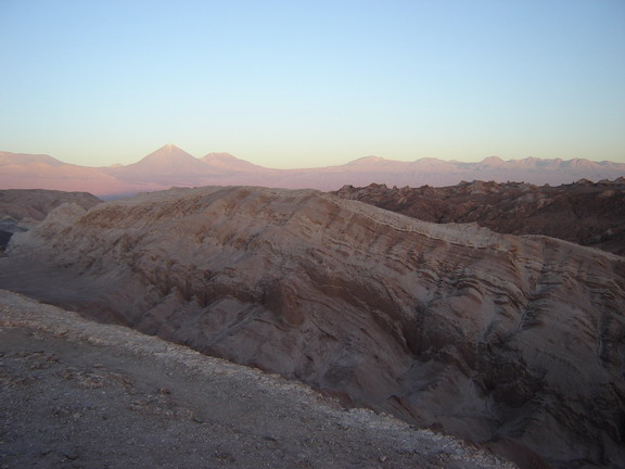 The sun sets over Valle de la Luna