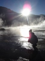 By the geiser - Atacama desert