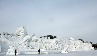 Gigantic Snow Sculpture