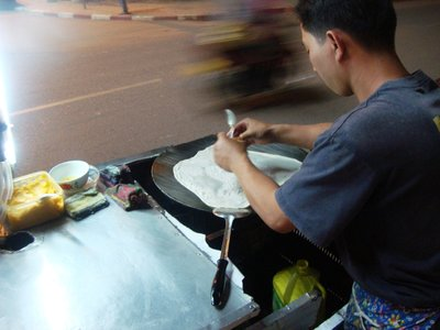Yummy street food along Mekong strip