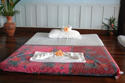 The massage bed in a Koh Ngai spa