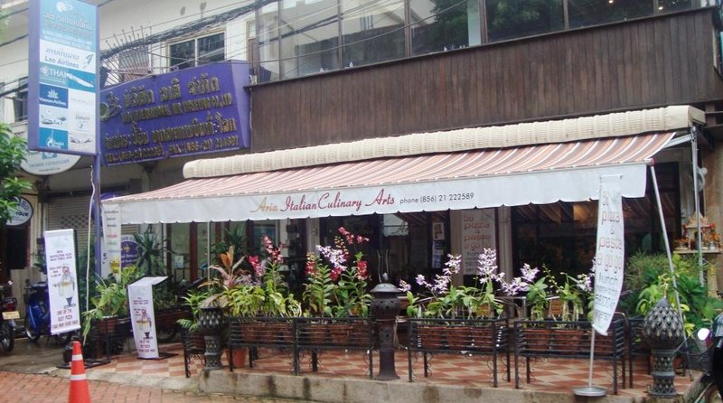 Cafes abound in Vientiane