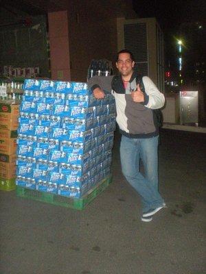 Free beer!! outside Emart