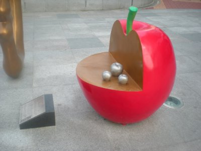 the otherside of the apple..