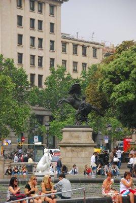 Fountain at La Plaza Catalunya