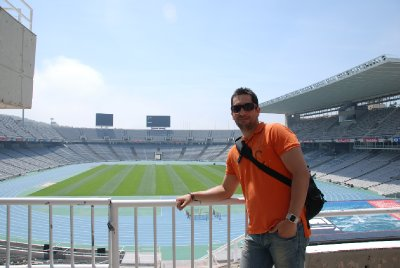Daniel at the Olympic Stadium