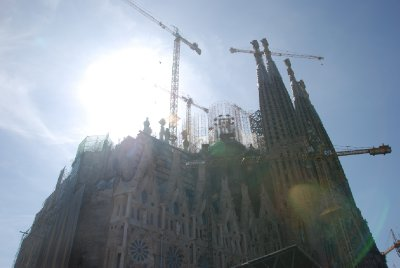 La Sagrada Familia still being renovated.. expected to be completed in 2026