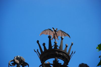 The bats on the light posts