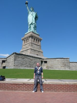 Me at the Statue of Liberty