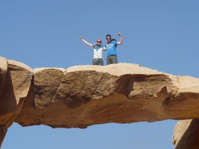 Me and Fraser atop the Jabal Umm Fruth Bridge