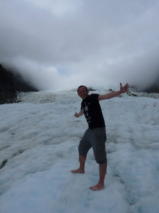 Barefooted at Franz Josef